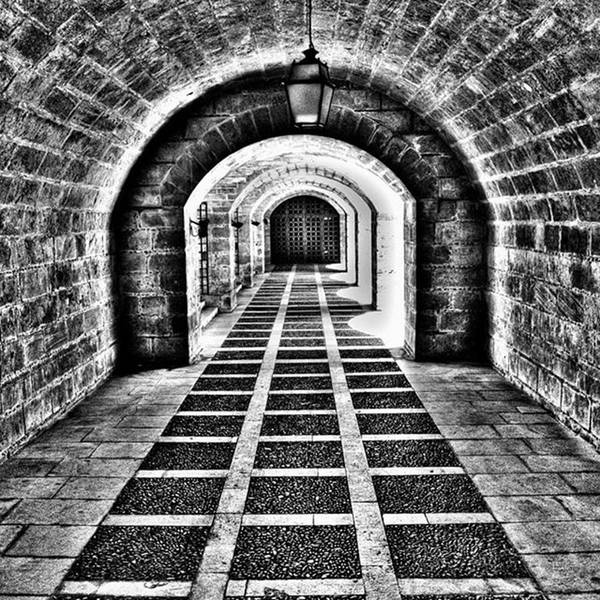 Blackandwhite Wall Art - Photograph - Passage, La Seu, Palma De by John Edwards
