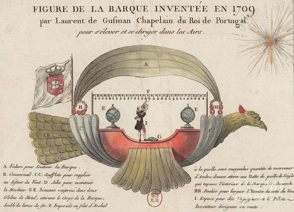 Photograph - Passarola Gartolomeu De Gusamao's Airship 1709 by Science Source
