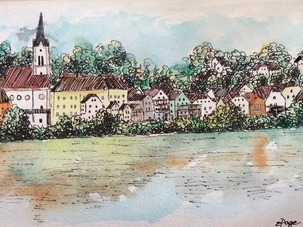 Painting - Passau II by Emily Page