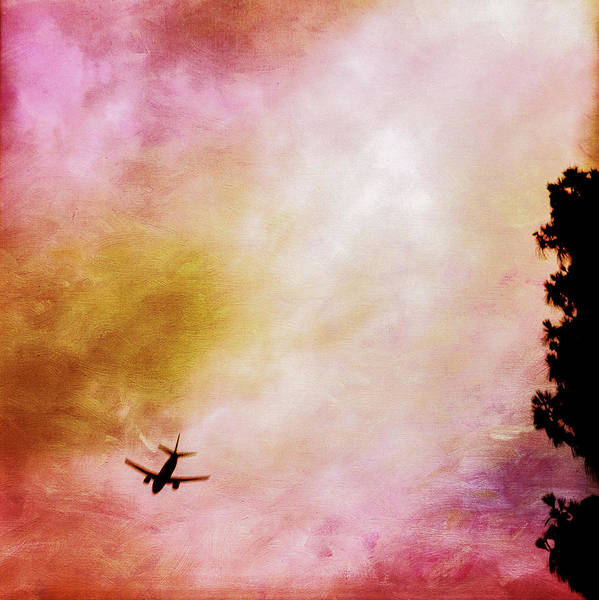Wall Art - Photograph - Passenger Jet Airliner Cloudy Sky Over Burbank by YoPedro