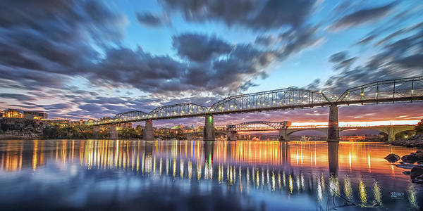 Photograph - Passing Clouds Above Chattanooga Pano by Steven Llorca