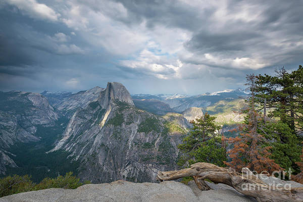 Wall Art - Photograph - Passing Clouds Over Half Dome by Michael Ver Sprill