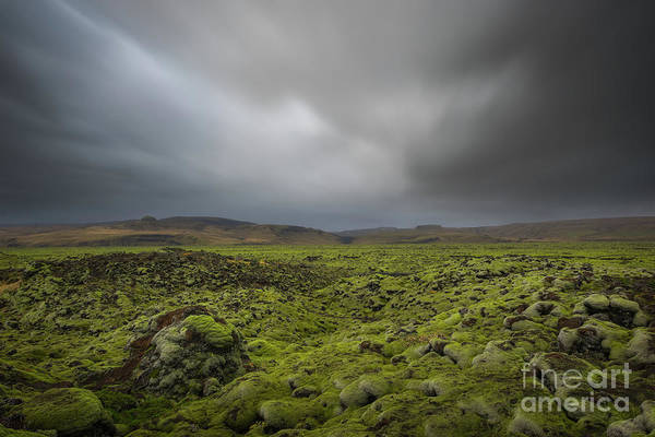 Photograph - Passing Clouds Over Lava Fields  by Michael Ver Sprill