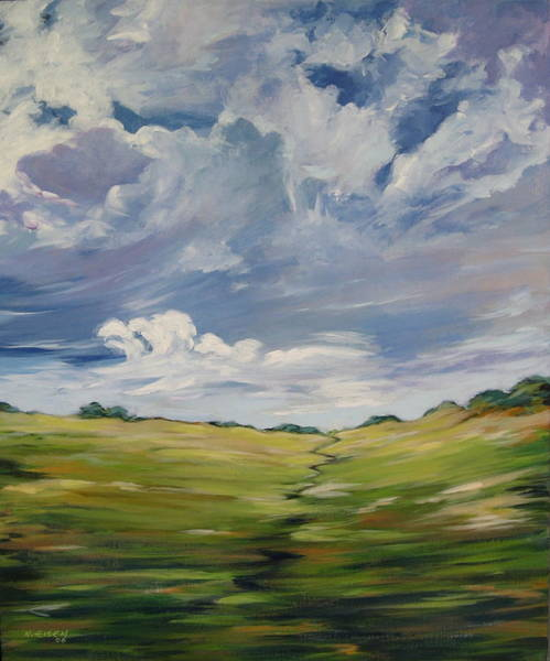 Painting - Passing Landscape by Outre Art  Natalie Eisen
