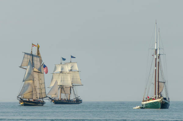 Photograph - Passing Ships by Stewart Helberg