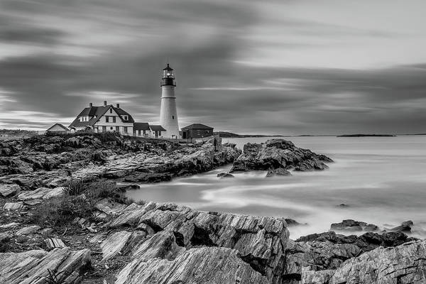 Photograph - Passing Storm At Portland Head Light by Jesse MacDonald