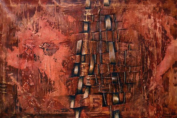 Stripe Mixed Media - Passing Through by Leyla Munteanu