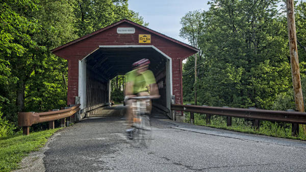 Red Covered Bridge Photograph - Passing Through by Stephen Stookey