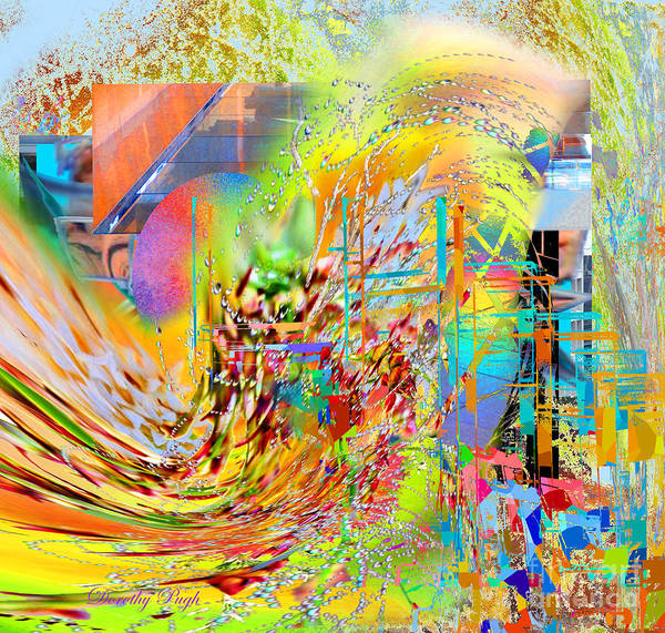 Digital Art - Tsunami by Dorothy Pugh
