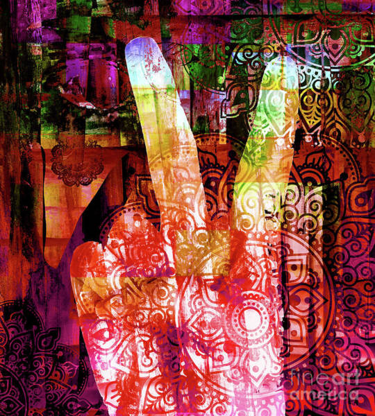 Peace Sign Mixed Media - Passion For Peace by Stacey Chiew