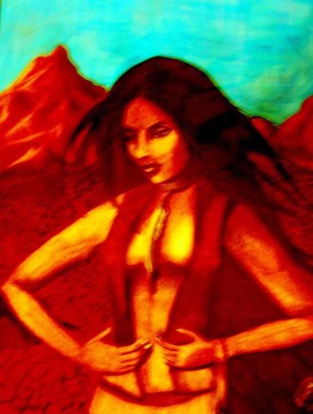 Mixed Media - Passion In The Desert by Michelle Dallocchio