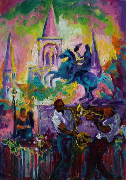 Wall Art - Painting - Passion In The Park Jackson Square  by Saundra Bolen Samuel