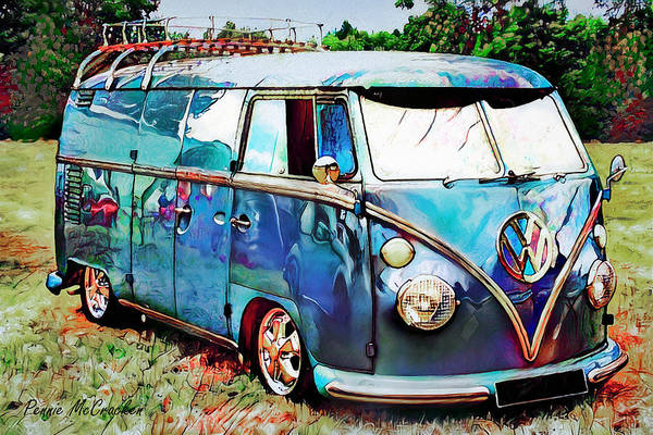 Digital Art - Passion Wagon by Pennie McCracken
