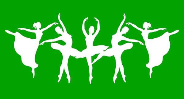 Painting - Passionate Dance White Ballerinas Silhouettes by Irina Sztukowski
