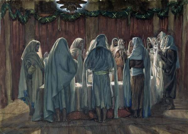Hebrew Painting - Passover by Tissot