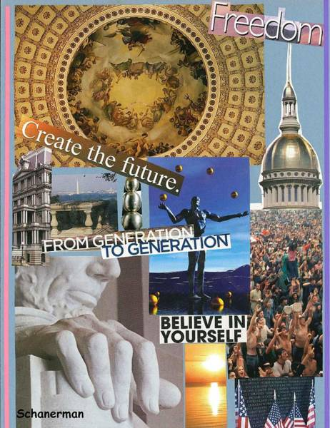 Mixed Media - Past Present Future by Susan Schanerman
