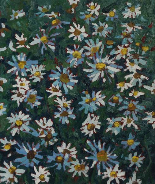 Wall Art - Painting - Past Prime Daisies by Phil Chadwick