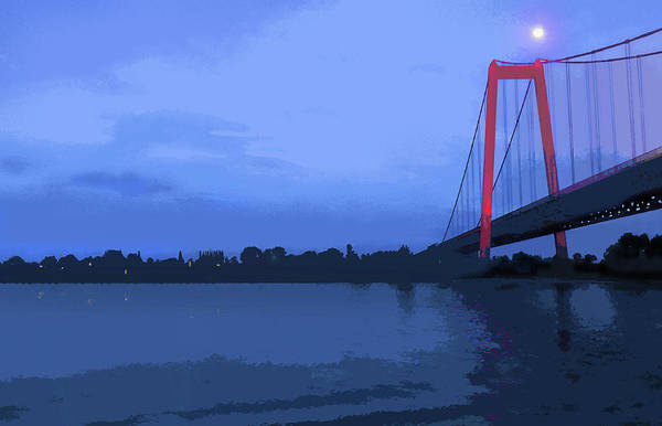 Past The Bridge Art Print