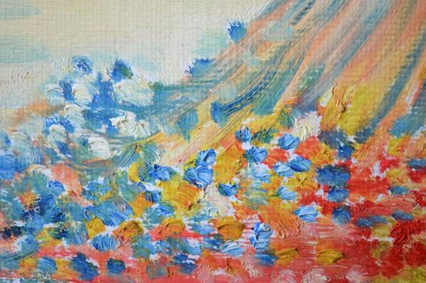 Painting - Pastel Abstract Oil  by Joy of Life Art Gallery