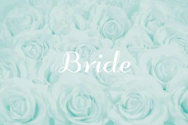 Wall Art - Photograph - Pastel Aqua Bride Design by Lucid Mood