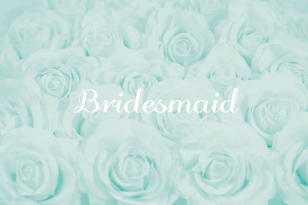 Wall Art - Photograph - Pastel Aqua Bridesmaid Design by Lucid Mood