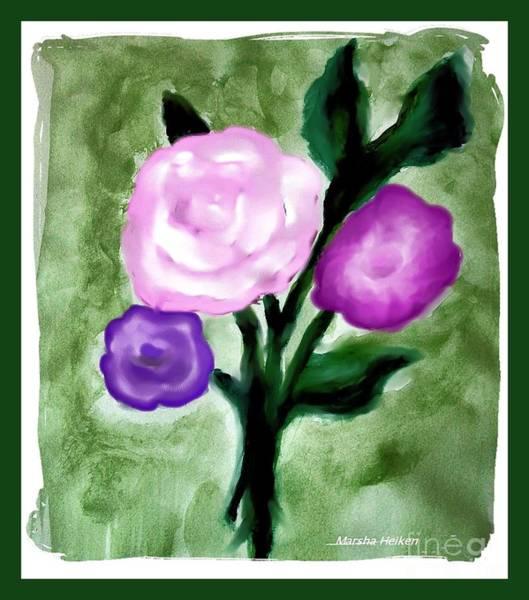 Border Mixed Media - Pastel Bouquet Painting by Marsha Heiken