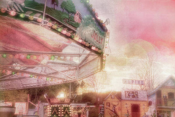 Photograph - Pastel Carnival Merry Go Round For Nursery Room by Joann Vitali