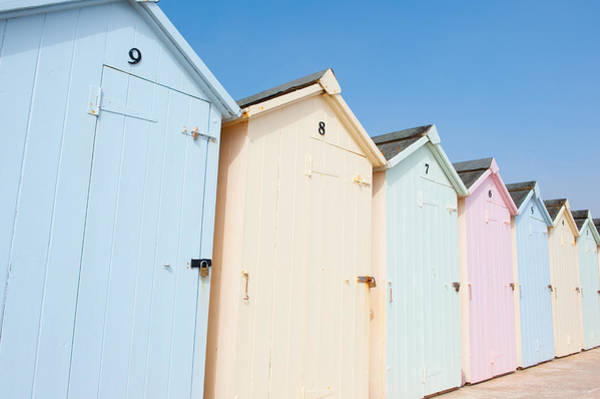 Photograph - Pastel Coloured Beach Huts by Helen Northcott