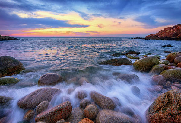 Photograph - Pastel Dawn In Monument Cove by Rick Berk
