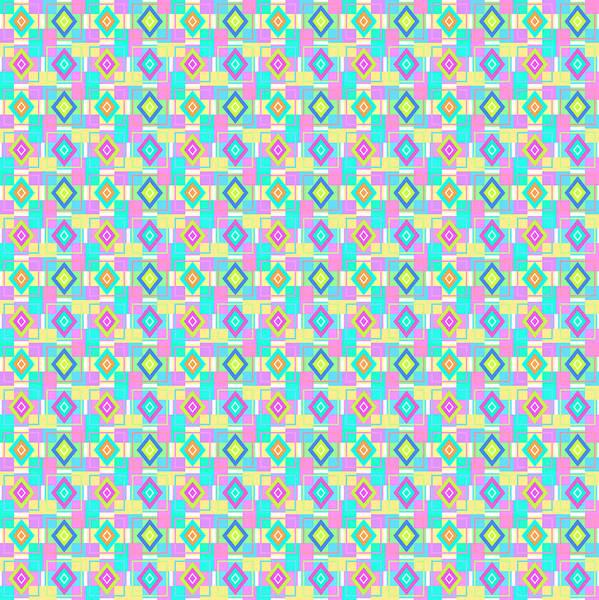 Wall Art - Digital Art - Pastel Geometric Pattern by SharaLee Art