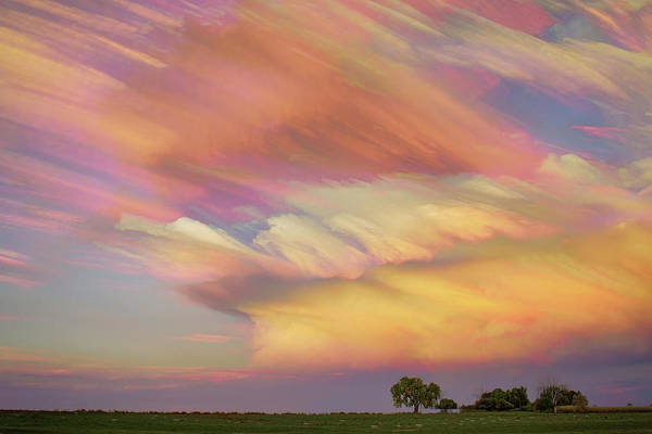 Photograph - Pastel Painted Big Country Sky by James BO Insogna