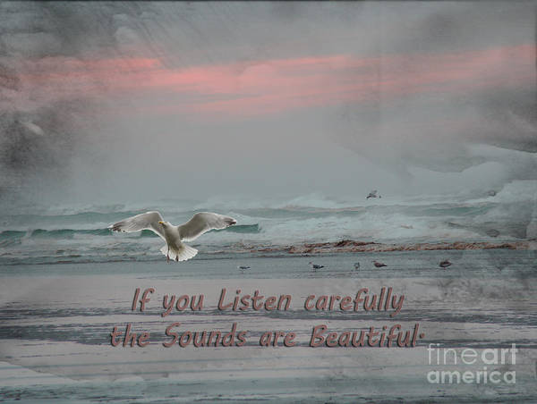 Seagulls Mixed Media - Pastel Painterly Touch 2 by Beverly Guilliams
