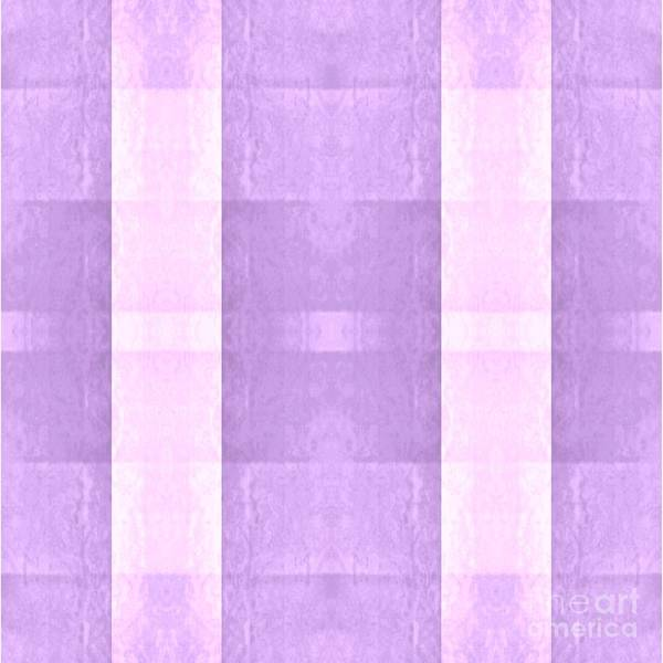 Digital Art - Pastel Pink And Purple Plaid by Rachel Hannah