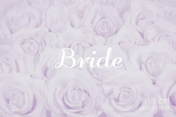 Wedding Flower Photograph - Pastel Purple Bride by Lucid Mood