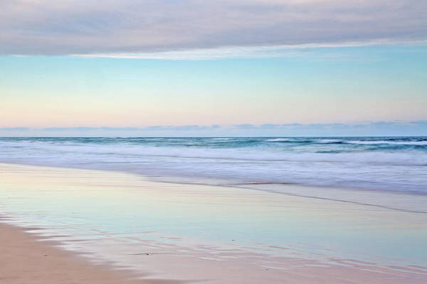 Tidal Photograph - Pastel Reflections by Az Jackson