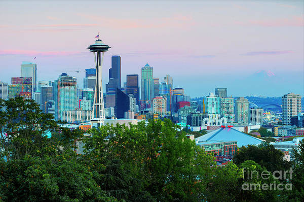 Wall Art - Photograph - Pastel Seattle by Mike Dawson