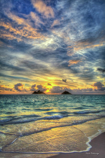 Wall Art - Photograph - Pastel Sunrise Lanikai Beach Oahu Hawaii Collection Art by Reid Callaway