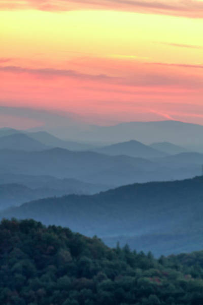 Photograph - Pastel Sunset In The Smoky Mountains by Teri Virbickis