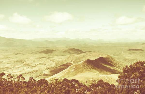 Pastel Tone Mountains Art Print