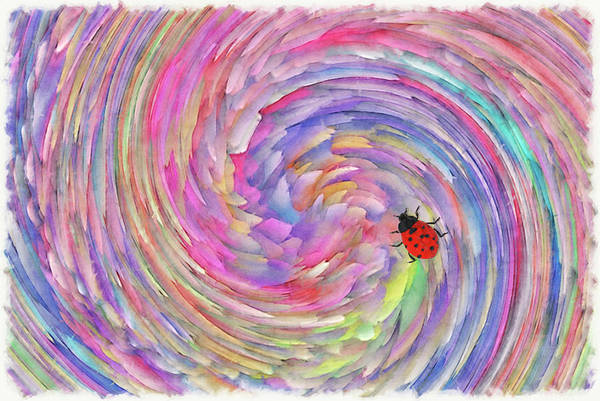 Spin Painting - Pastel Twist by Jack Zulli