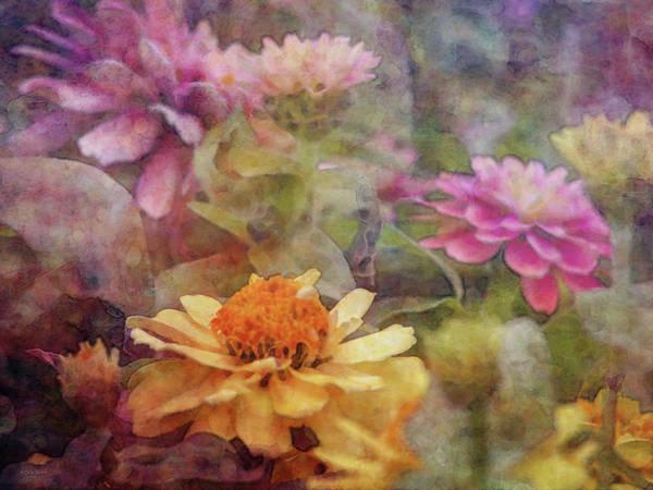 Photograph - Pastel Zinnias 1298 Idp_2 by Steven Ward
