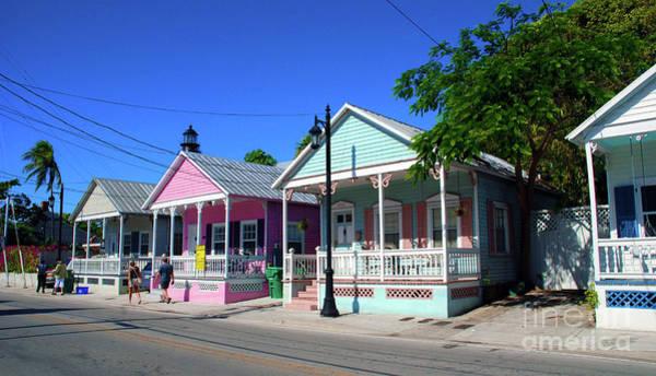 Photograph - Pastels Of Key West by Susanne Van Hulst