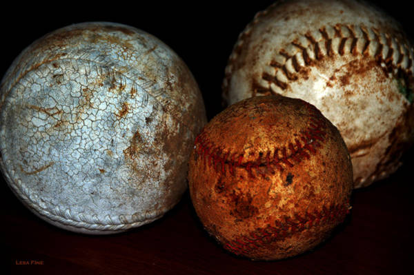 Photograph - Pastimes Baseball And Softballs by Lesa Fine