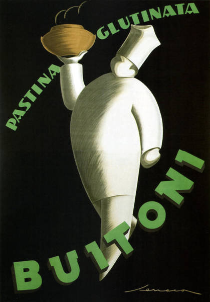 Product Mixed Media - Pastina Glutinata Buitoni - Chef With A Steaming Bowl - Vintage Advertising Poster by Studio Grafiikka
