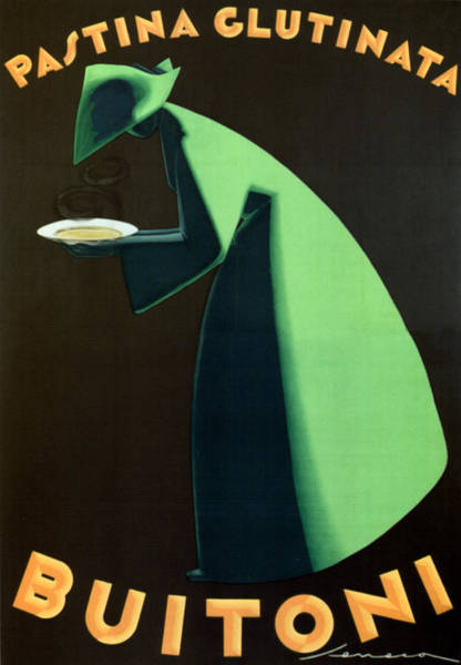 Product Mixed Media - Pastina Glutinata Buitoni - Chef With Green Gown - Vintage Advertising Poster by Studio Grafiikka
