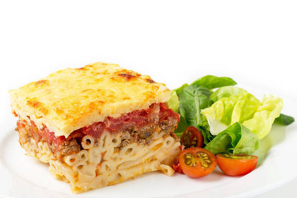 Photograph - Pastitsio And Salad Side View by Paul Cowan