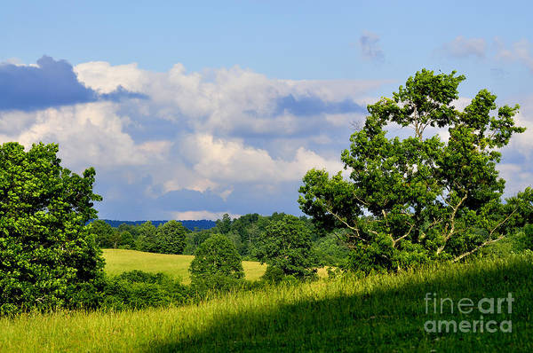 Allegheny Mountains Wall Art - Photograph - Pasture Fields And Mountains by Thomas R Fletcher