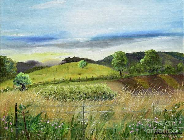 Painting - Pasture Love At Chateau Meichtry - Ellijay Ga by Jan Dappen