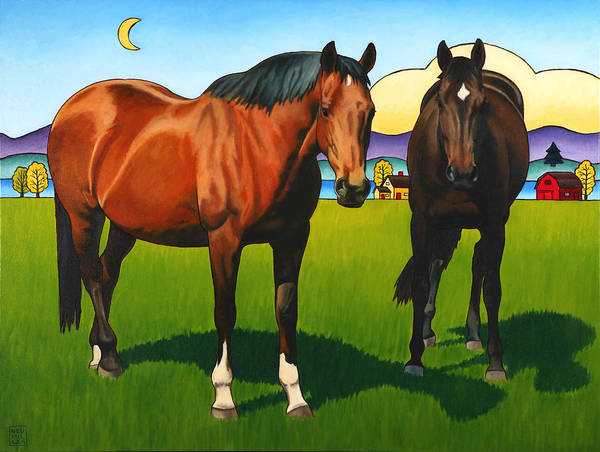 Wall Art - Painting - Pasture Pals by Stacey Neumiller