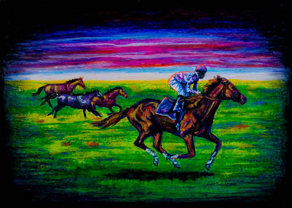 Pastel - Pasture Race by Laurie Tietjen